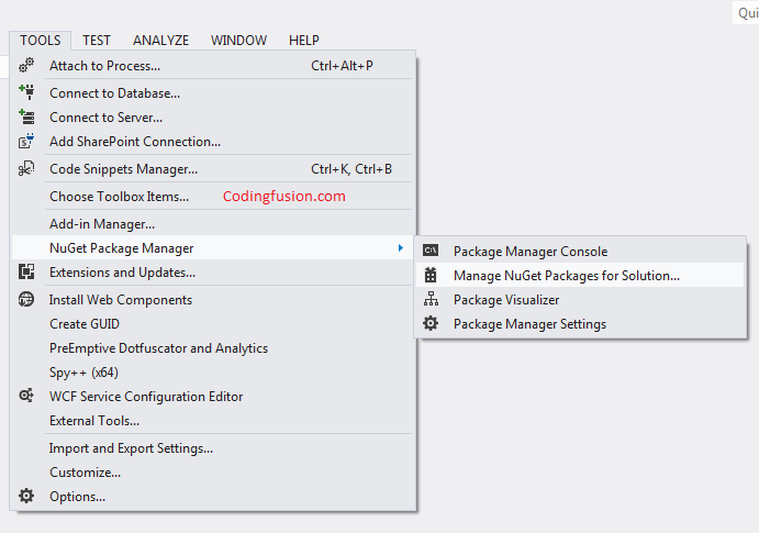 How to Install nuget packages in asp .net
